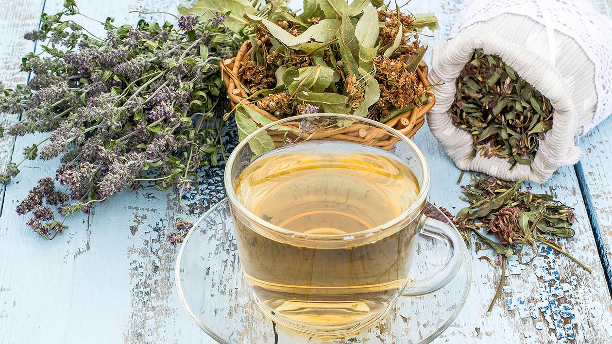 Tazza di tè con erbe
