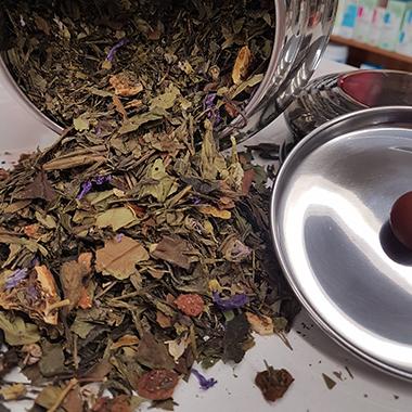 Tè verde purple rain